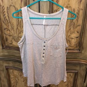 NWT Free People button tank